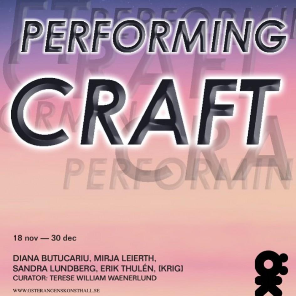 performing craft affisch